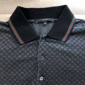 Authentic Mens Gucci polo shirt size xl